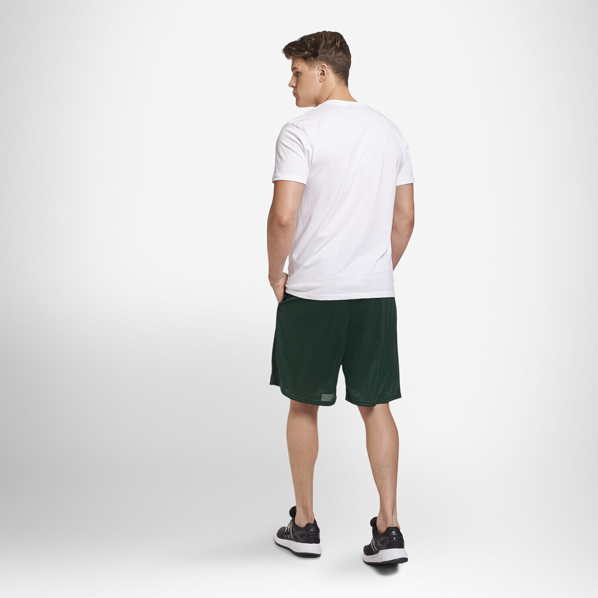 thumbnail 9 - Russell-Athletic-Mens-Shorts-With-Pockets-Mesh-Moisture-Wicking-Gym-Activewear