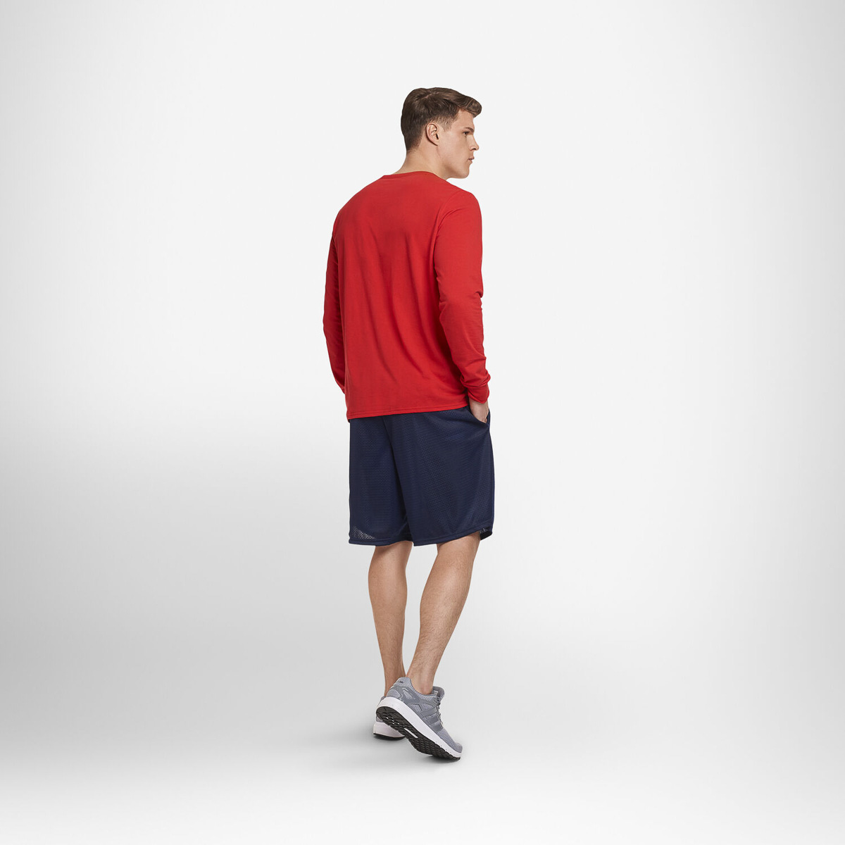 thumbnail 15 - Russell-Athletic-Mens-Shorts-With-Pockets-Mesh-Moisture-Wicking-Gym-Activewear