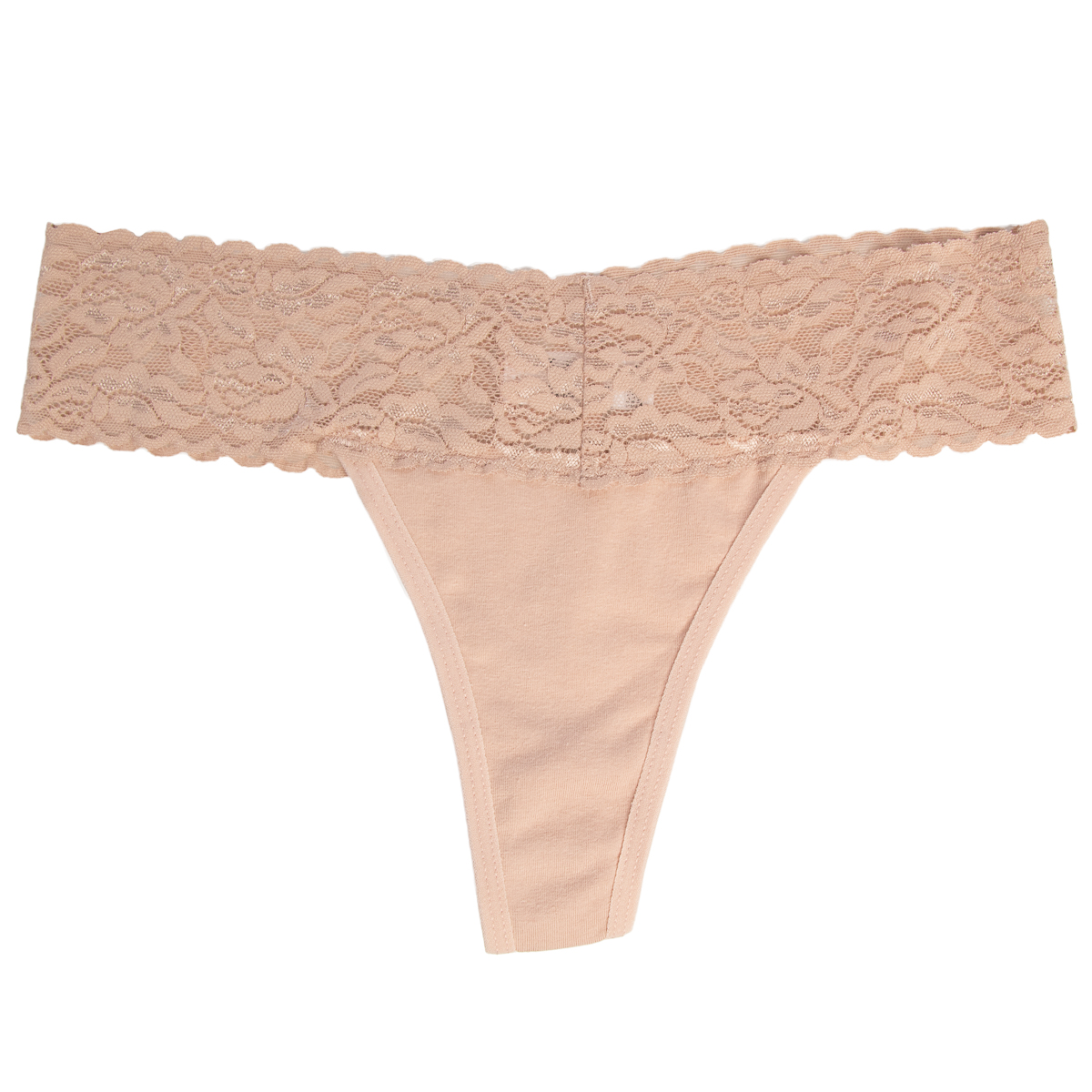 6-Pack-Cotton-Lace-Thong-Underwear-For-Women-Soft-Sexy-Lingerie-Panties-Thongs thumbnail 20