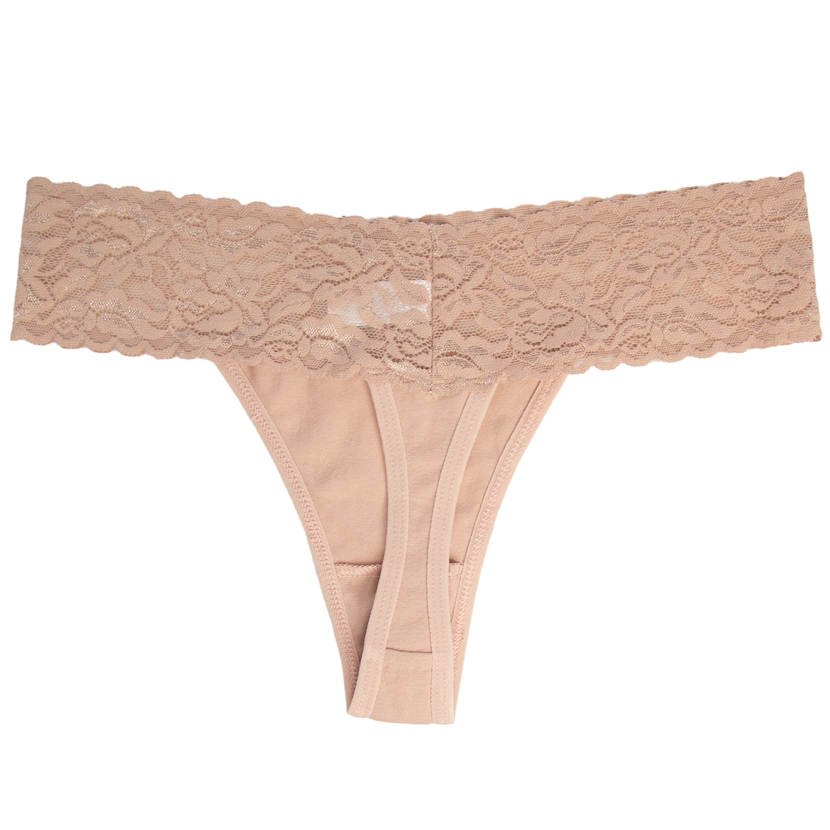 6-Pack-Cotton-Lace-Thong-Underwear-For-Women-Soft-Sexy-Lingerie-Panties-Thongs thumbnail 29