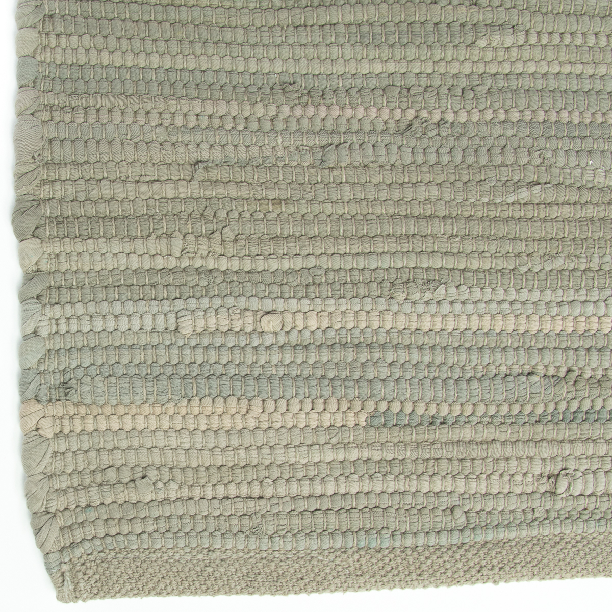 """Nuloom Washable Rugs: Woven 30x42"""" Chindi Rug Rag Rug For Entryway Living Room"""