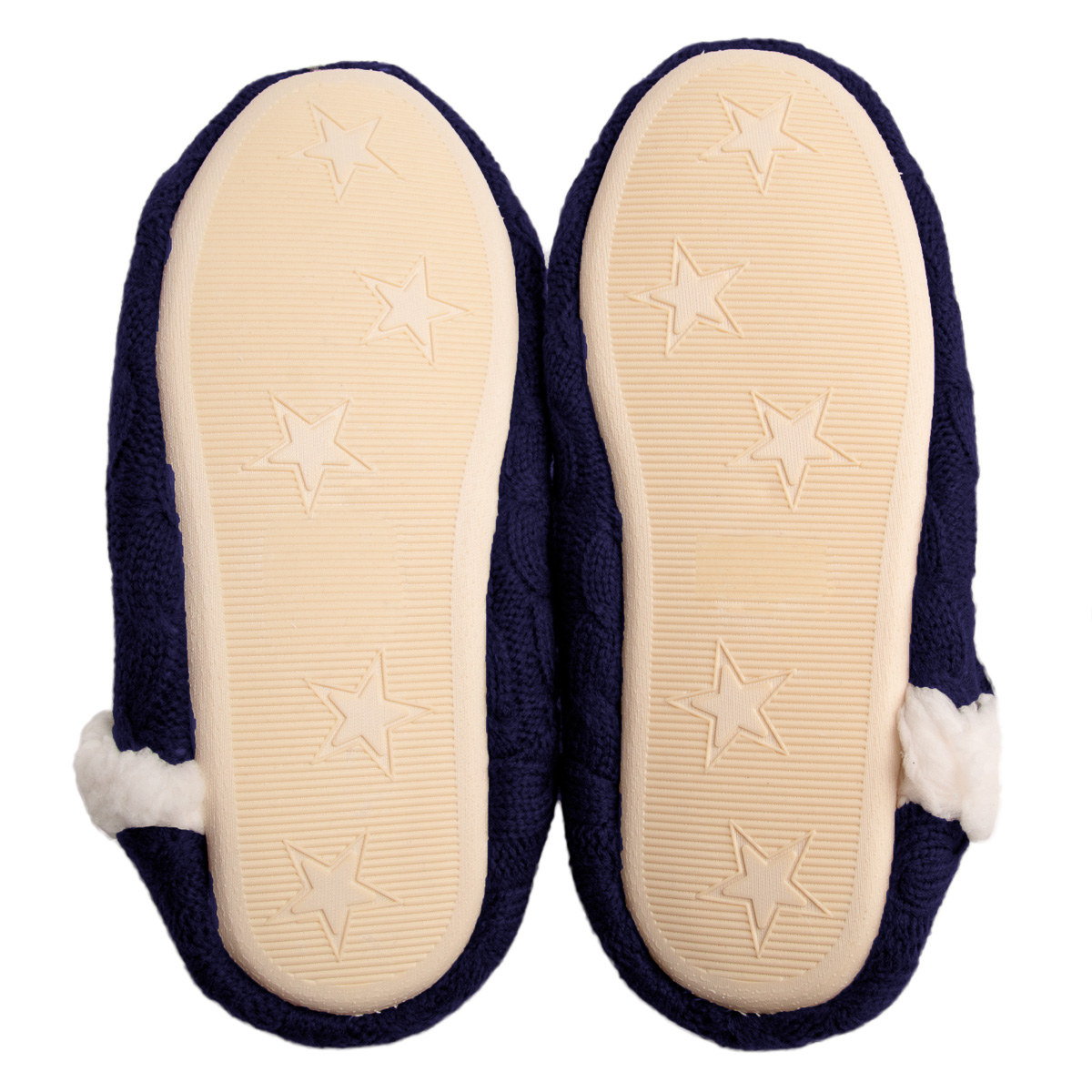 thumbnail 25 - Yelete Women's Cable Knit Slippers House Booties Soft Sherpa Lining Rubber Soles
