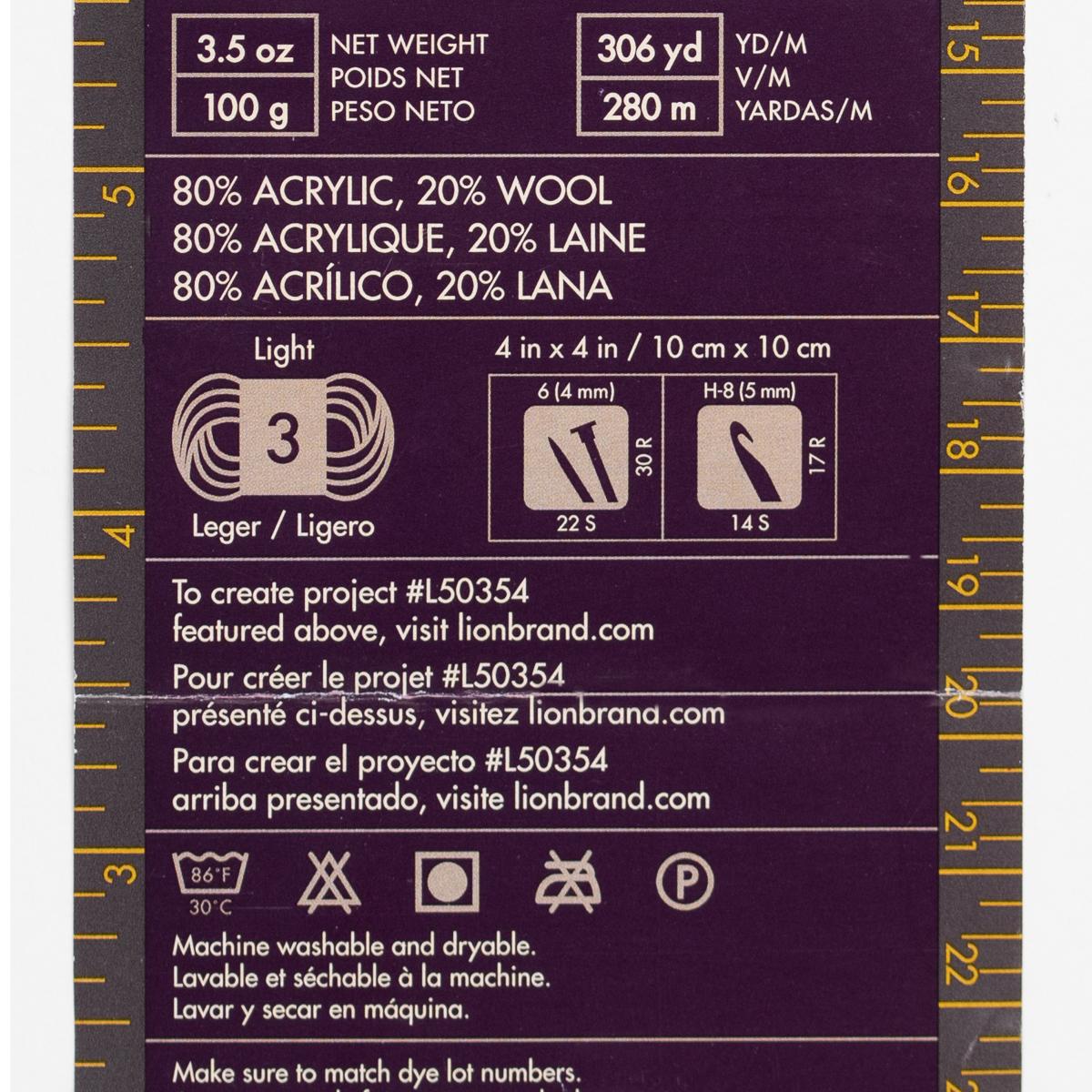 3pk-Lion-Brand-Color-Waves-Acrylic-amp-Wool-Yarn-Light-3-Soft-Knitting-Crocheting thumbnail 16