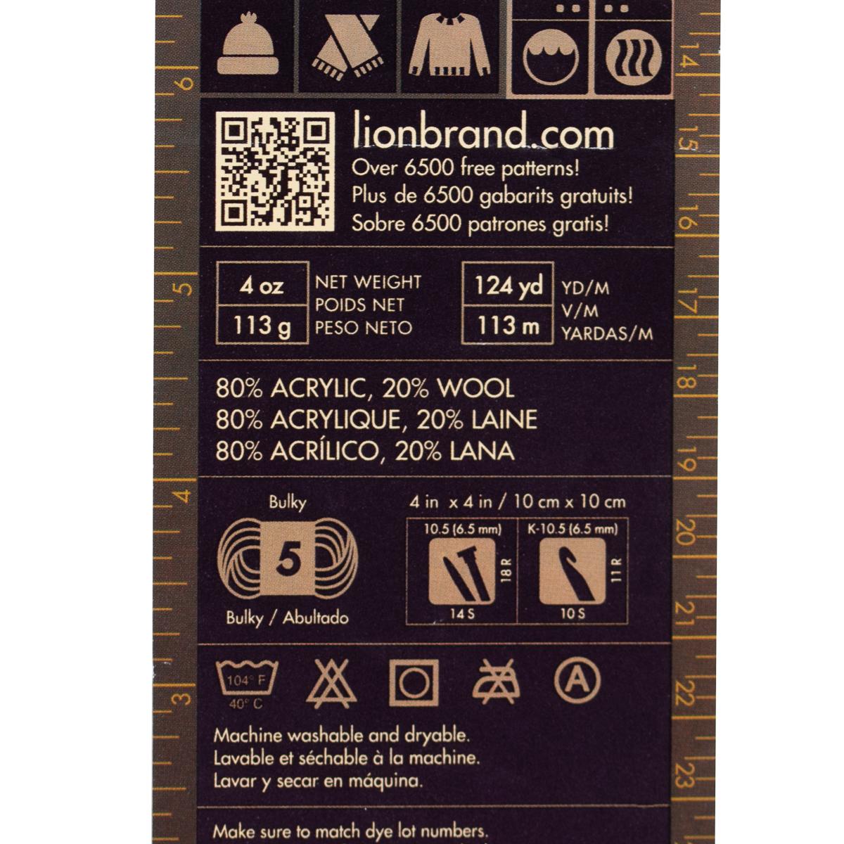 3pk-Lion-Brand-Yarn-Acrylic-amp-Wool-Chunky-Yarn-Bulky-5-Soft-Knitting-Crocheting thumbnail 16