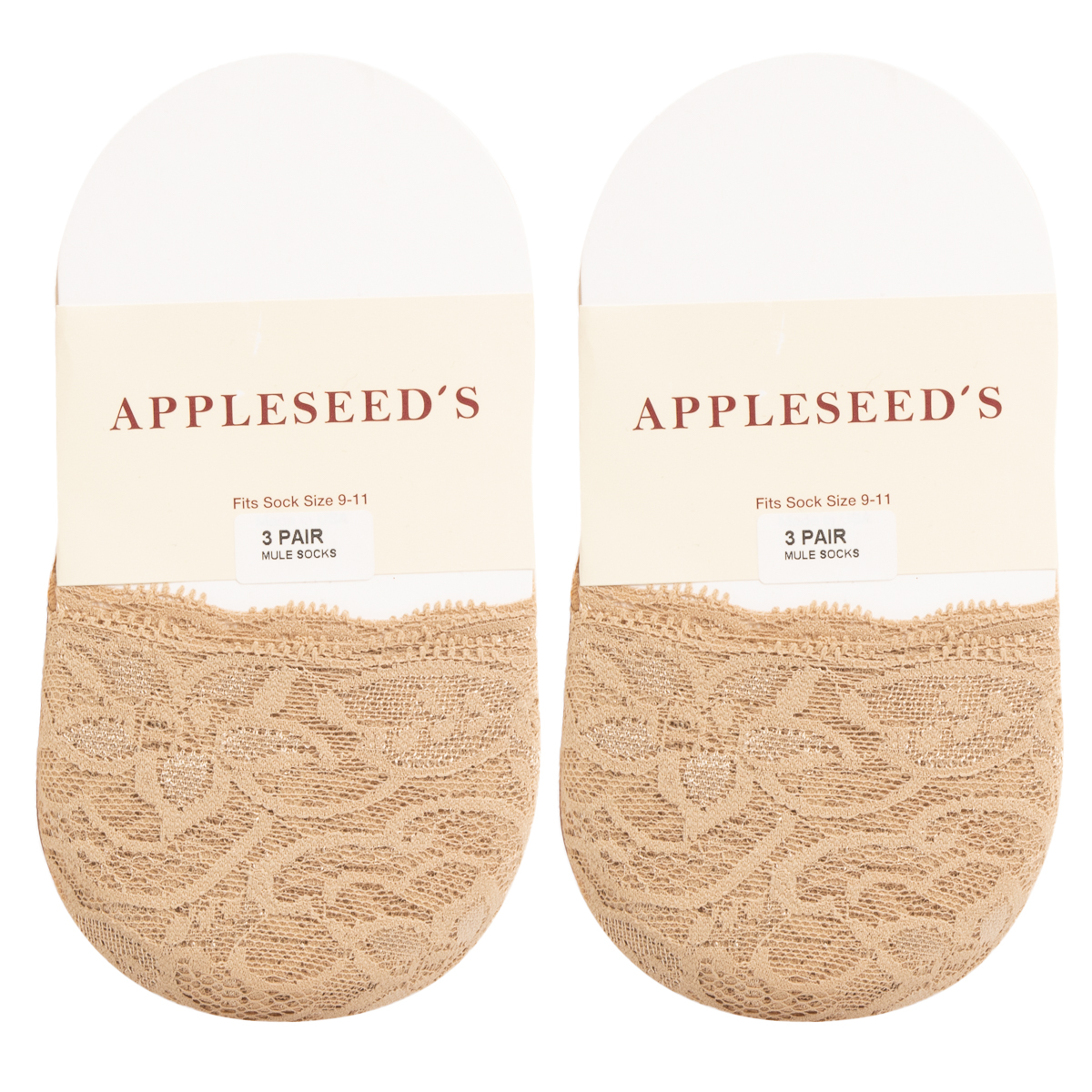 6pk-Appleseed-039-s-Womens-Toe-Cover-No-Show-Liner-Socks-Nylon-Lace-Non-Slip-Footie thumbnail 15