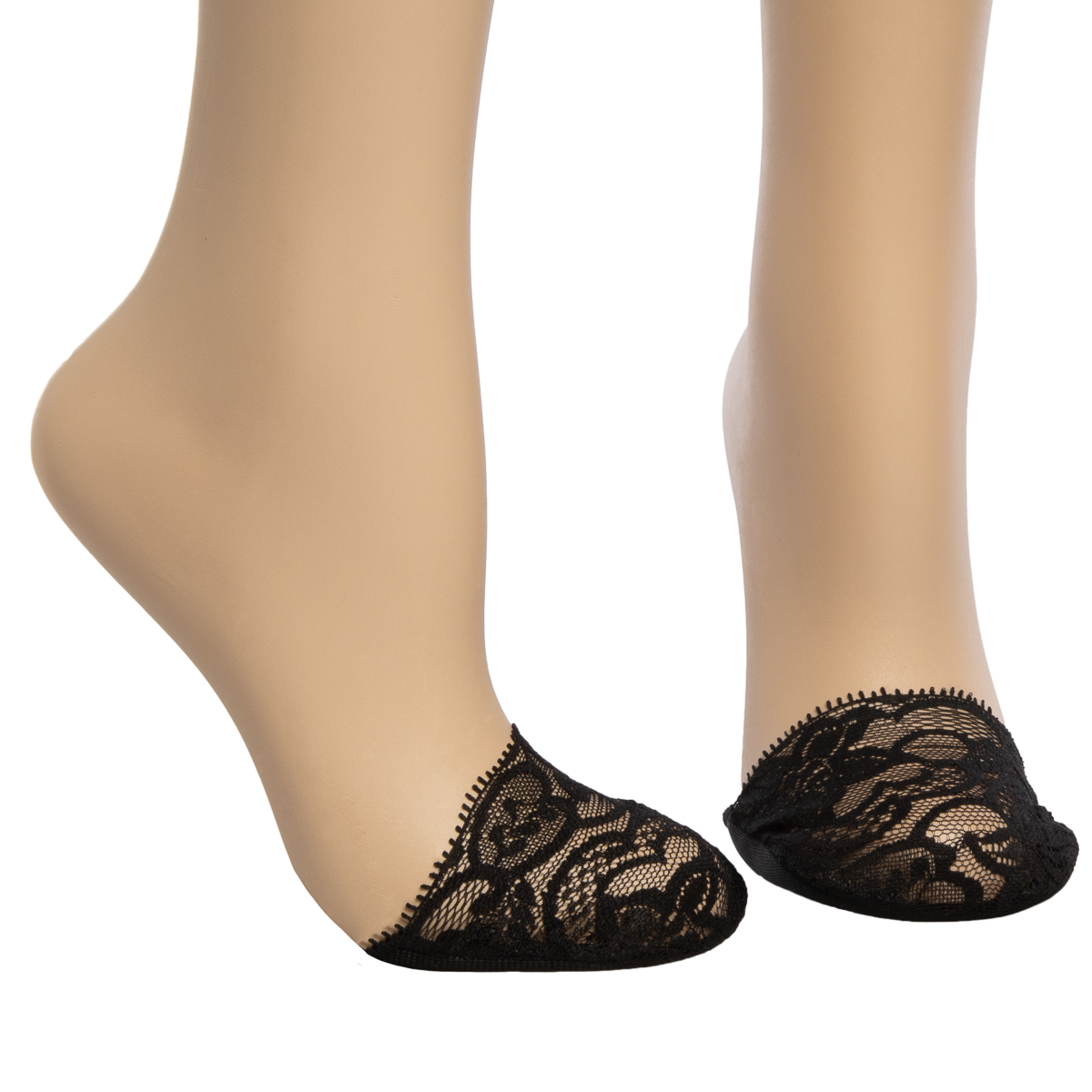 6pk-Appleseed-039-s-Womens-Toe-Cover-No-Show-Liner-Socks-Nylon-Lace-Non-Slip-Footie thumbnail 18