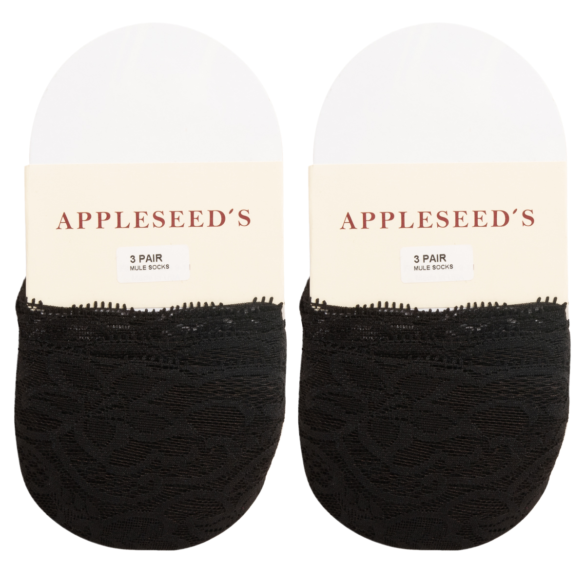 6pk-Appleseed-039-s-Womens-Toe-Cover-No-Show-Liner-Socks-Nylon-Lace-Non-Slip-Footie thumbnail 21