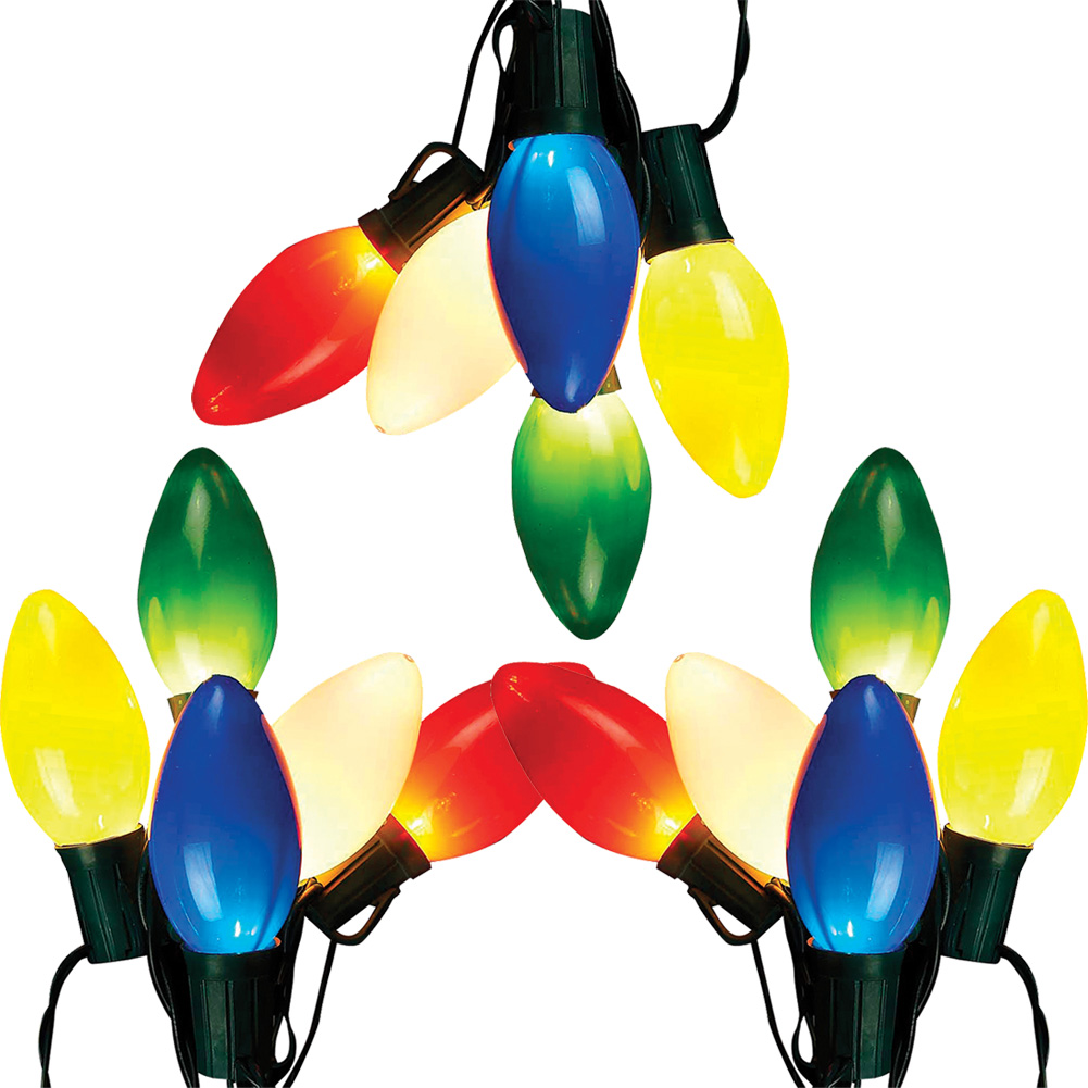 Retro Christmas String Lights : NEW (Set/3) Vintage Bulb Indoor/Outdoor 13 Retro Christmas String Lights Multi eBay
