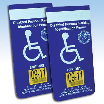 NEW Handicapped Disabled Parking Placard Protective Car ...