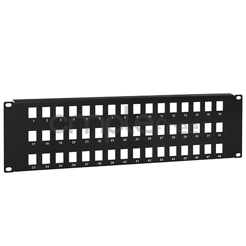 "48-Port Keystone Jack Blank Patch Panel Plate Cat5e Cat6 RJ45 19/"" Rack Mount 3U"