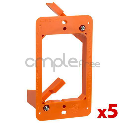 4x Low Voltage 2 Dual Gang Bracket Mount Multipurpose DryWall Mounting WallPlate