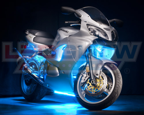 14pc Ice Blue LED Flexible Motorcycle Light Kit & 14pc ICE BLUE LED NEON FLEXIBLE MOTORCYCLE LIGHTS KIT - LU ... azcodes.com