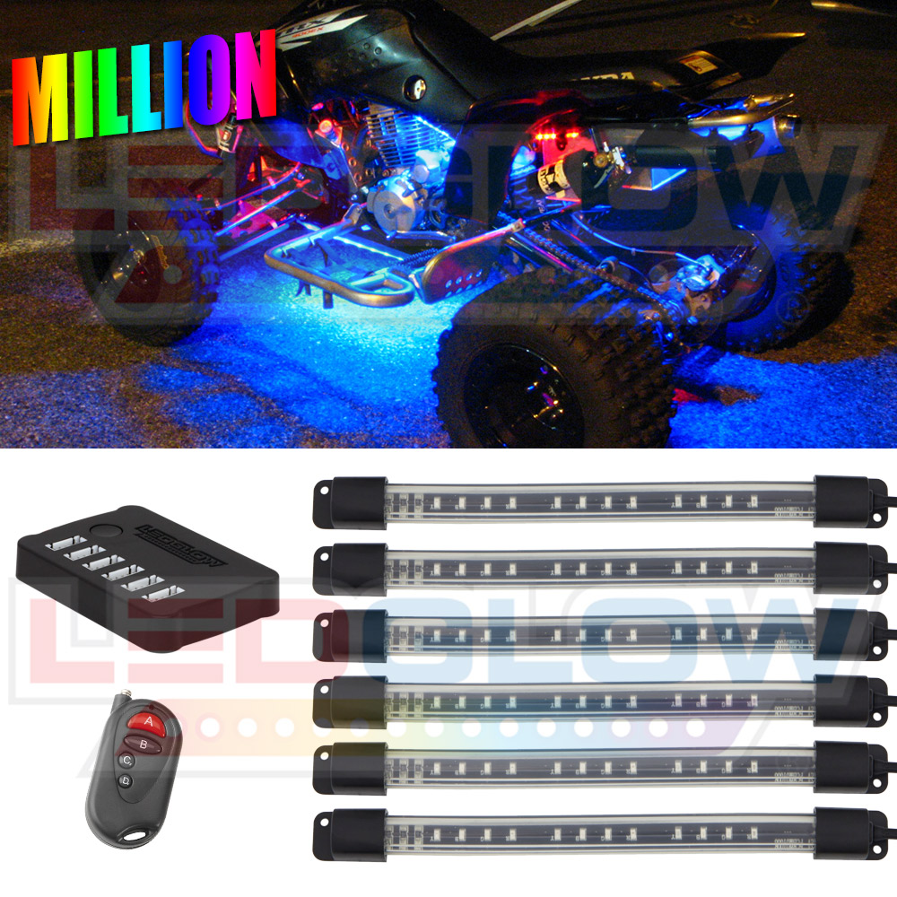 6pc Flexible LED Million Color Quad Lighting Kit & LEDGLOW 6PC MILLION COLOR FLEXIBLE ATV QUAD UTV NEON LED LIGHTING ... azcodes.com