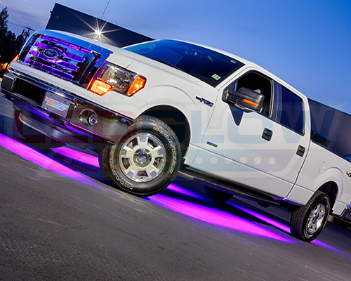 Ledglow 6pc Purple Wireless Smd Led Truck Underbody