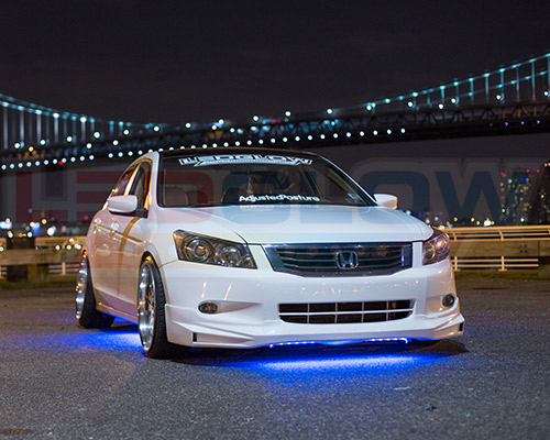 Ledglow Blue Led Underbody Underglow Under Car Neon Light Kit W 4