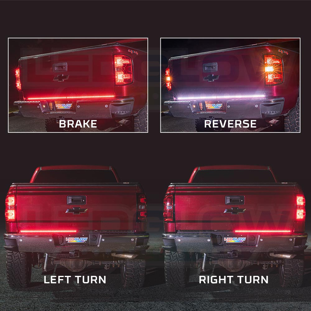 Ledglow 60 U0026quot  Double Row Truck Tailgate Led Light Bar