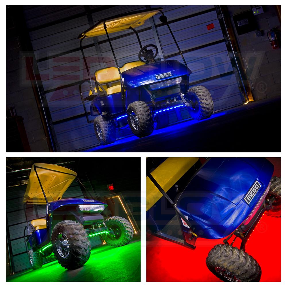 4pc Ledglow Million Color Led Golf Cart Underbody Light