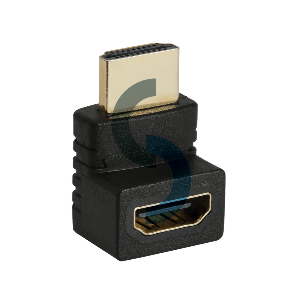 HDMI Male to HDMI Female Right Angle Narrow Adapter 1080p 270 Degree