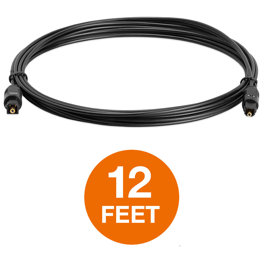 Toslink Digital Fiber Optical Optic Cable Audio Surround Sound Bar Cord 100 Feet Cmple