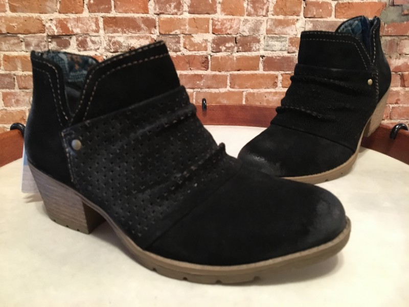 58db038c2ffe Image is loading Earth-Origins-Black-Suede-Perforated-Ruched-Amanda-Ankle-