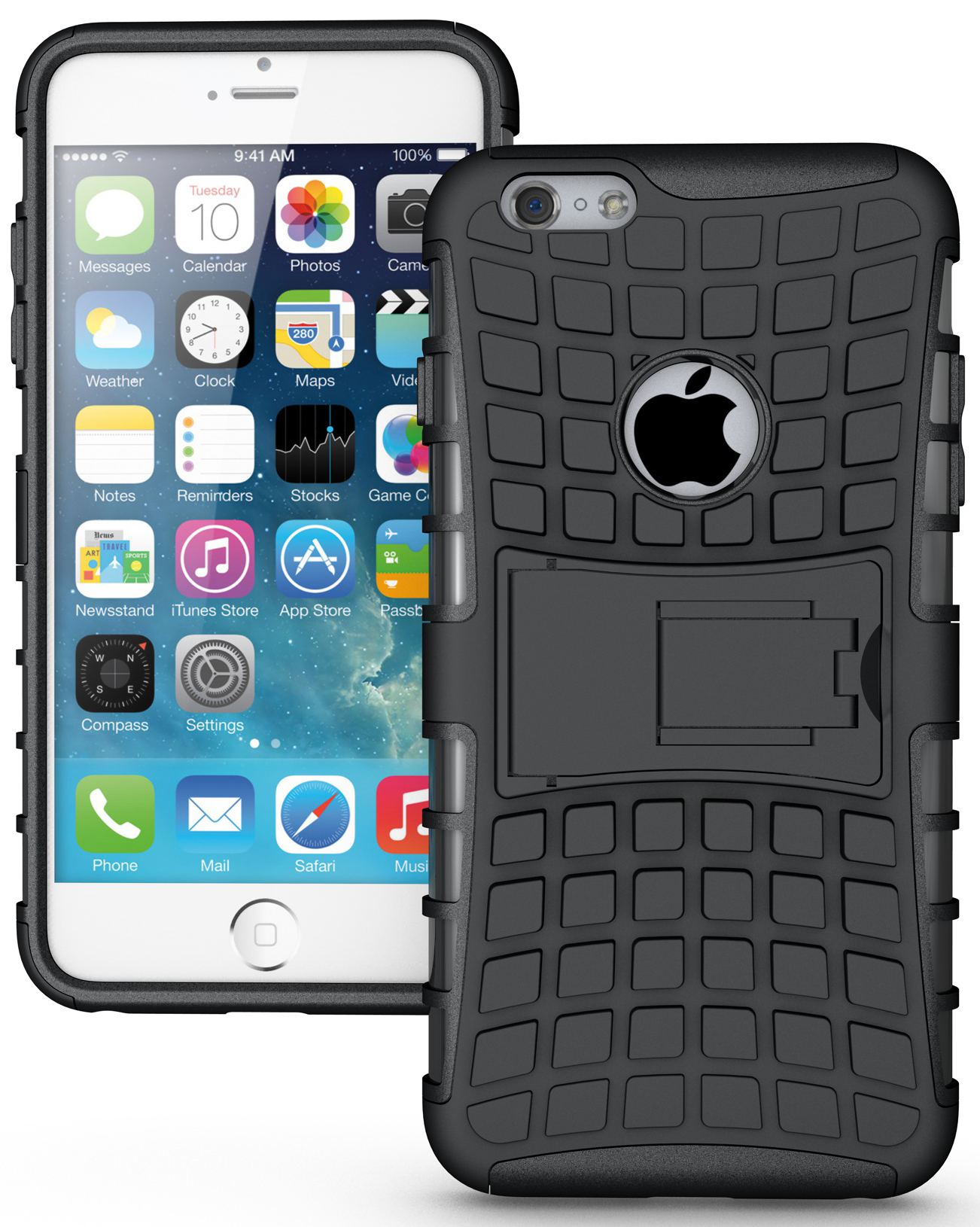 iphone new model new rugged grenade grip tpu skin cover stand for 21638