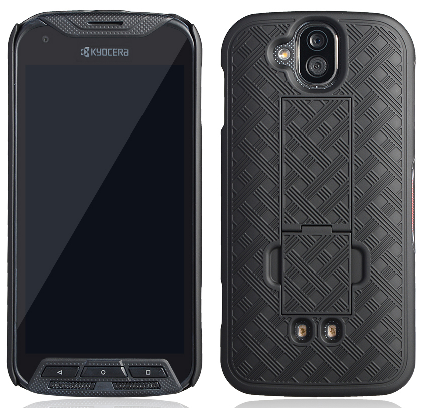 sale retailer 76c1a f0dd3 Details about BLACK KICKSTAND SLIM CASE HARD COVER FOR KYOCERA DURAFORCE  PRO E6810/E6820/E6830