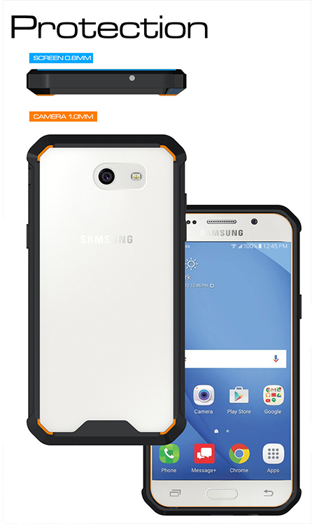 Details about CLEAR HYBRID ANTI-SHOCK TPU CASE HARD COVER FOR SAMSUNG  GALAXY J3 EMERGE 2017
