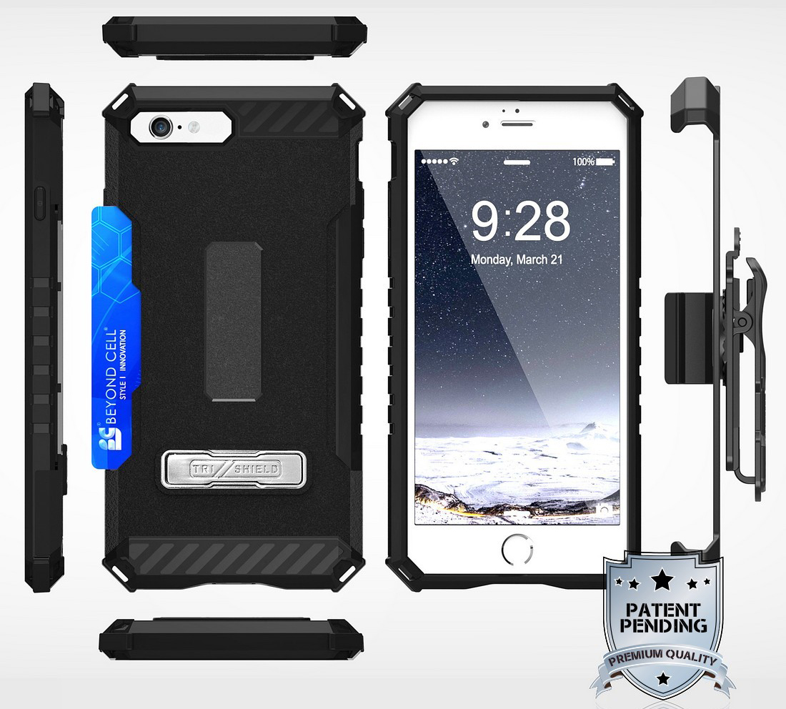 thumbnail 6 - TRI-SHIELD RUGGED CASE STAND CARD SLOT COVER + STRAP + BELT CLIP FOR iPHONE 8/7