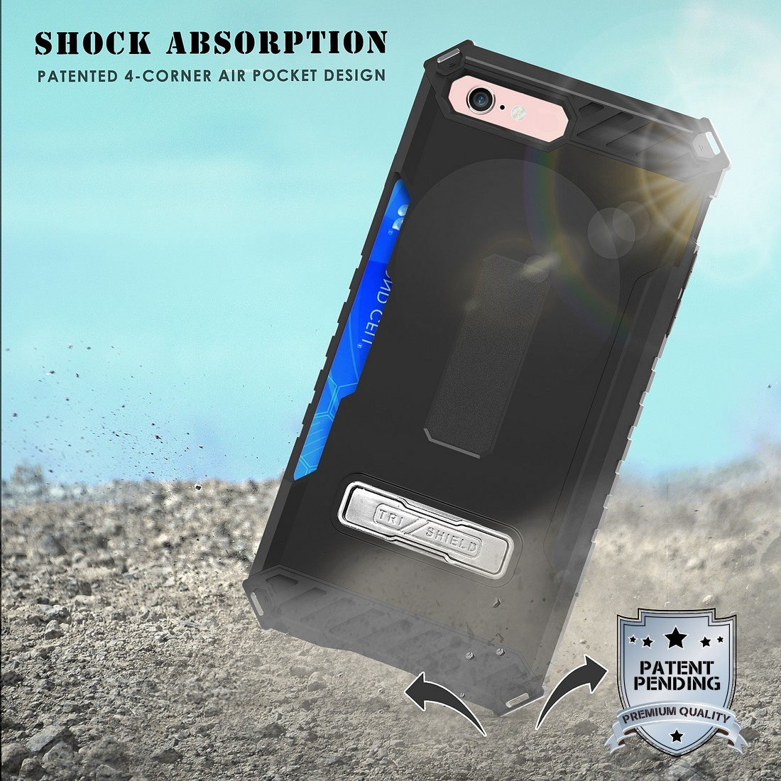 thumbnail 7 - TRI-SHIELD RUGGED CASE STAND CARD SLOT COVER + STRAP + BELT CLIP FOR iPHONE 8/7