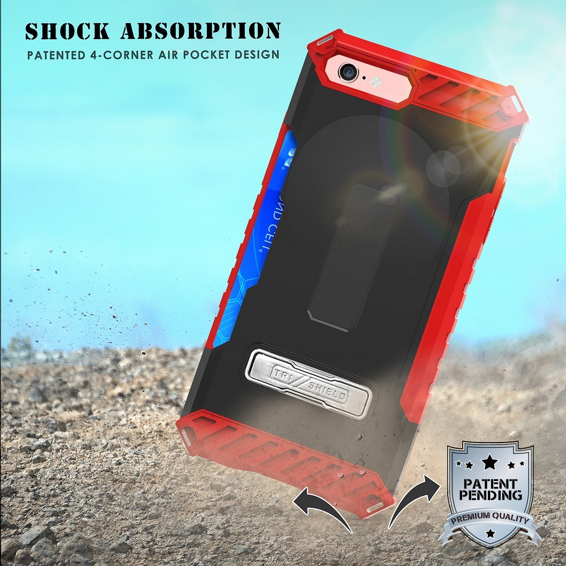 thumbnail 19 - TRI-SHIELD RUGGED CASE STAND CARD SLOT COVER + STRAP + BELT CLIP FOR iPHONE 8/7