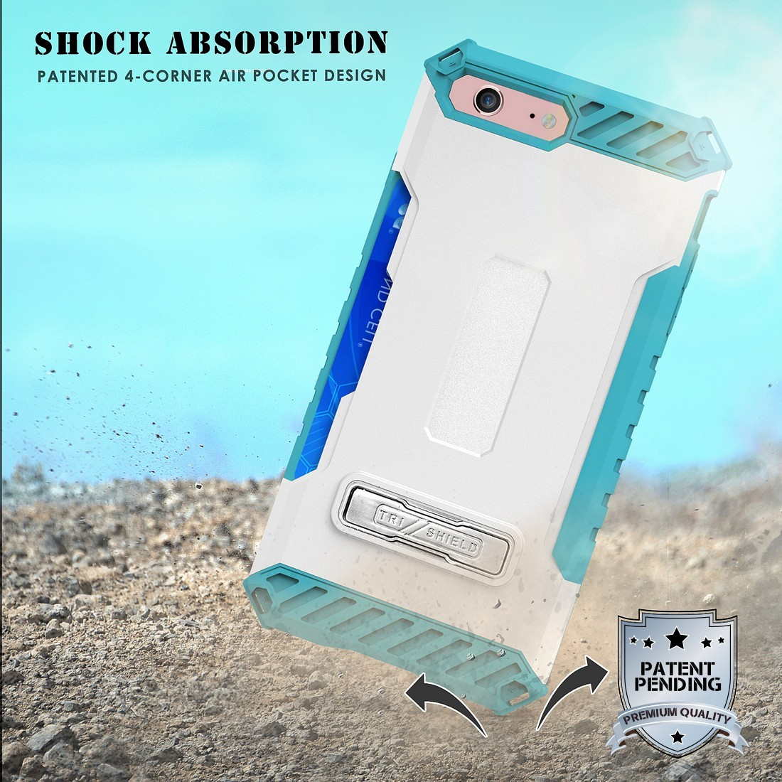 thumbnail 48 - TRI-SHIELD RUGGED CASE STAND CARD SLOT COVER + STRAP + BELT CLIP FOR iPHONE 8/7