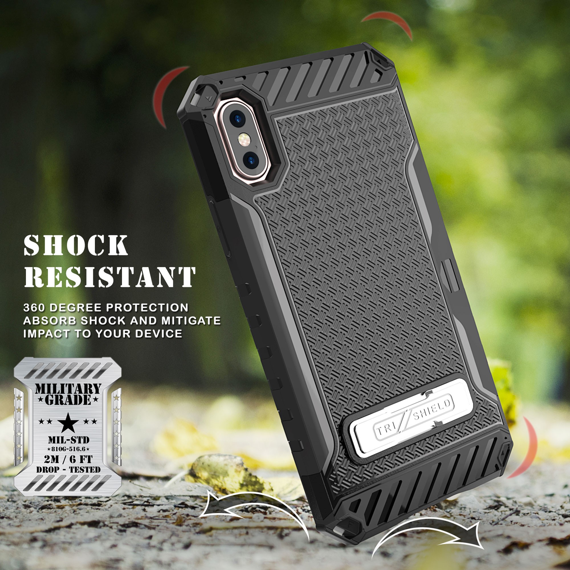 thumbnail 4 - TRI-SHIELD RUGGED CASE STAND CARD SLOT + BELT CLIP HOLSTER FOR APPLE iPHONE X 10