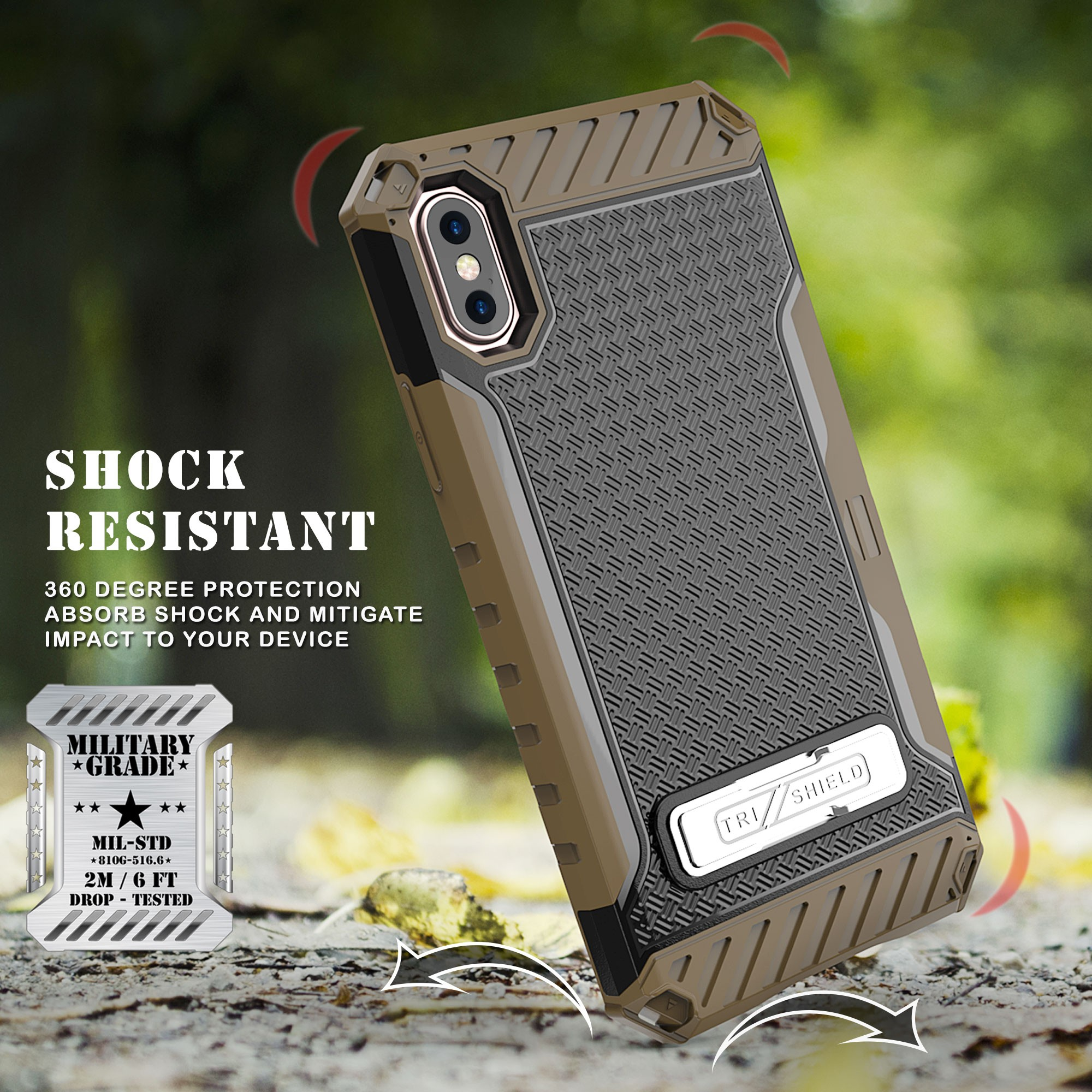 thumbnail 10 - TRI-SHIELD RUGGED CASE STAND CARD SLOT + BELT CLIP HOLSTER FOR APPLE iPHONE X 10