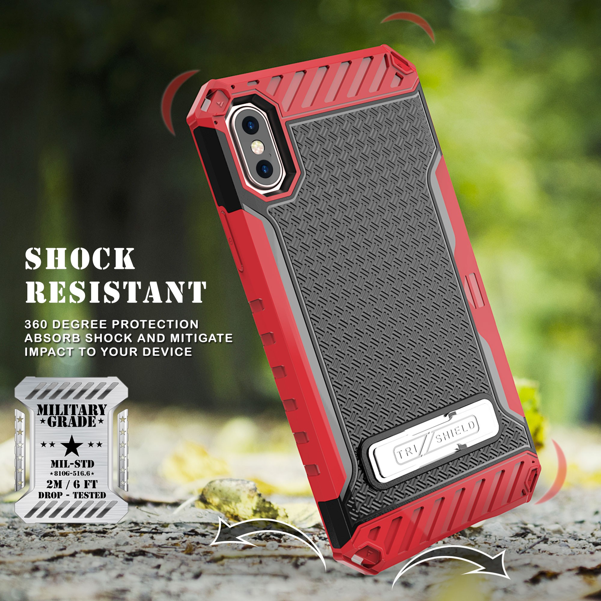 thumbnail 16 - TRI-SHIELD RUGGED CASE STAND CARD SLOT + BELT CLIP HOLSTER FOR APPLE iPHONE X 10