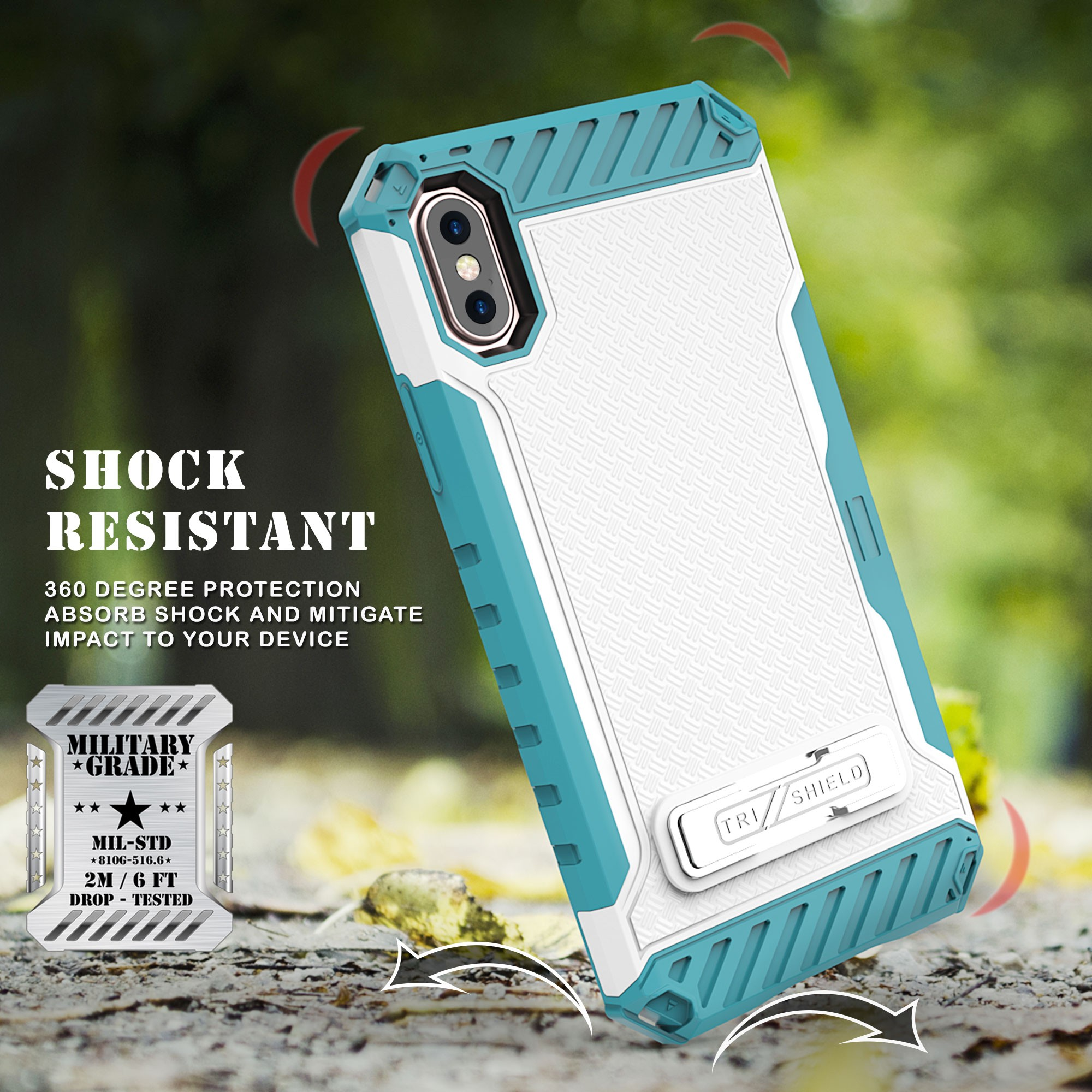 thumbnail 22 - TRI-SHIELD RUGGED CASE STAND CARD SLOT + BELT CLIP HOLSTER FOR APPLE iPHONE X 10