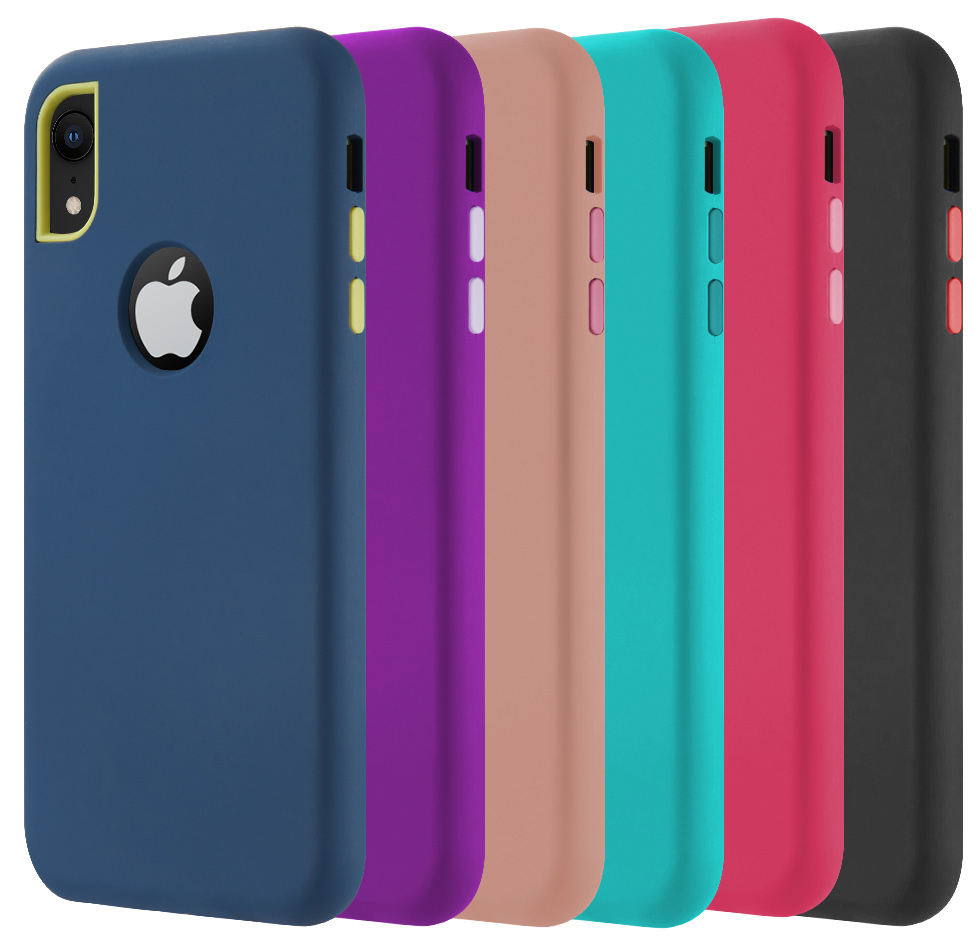 sports shoes 73b89 71d44 Details about Dual Max Hybrid Rugged Case Rubberized Cover for Apple iPhone  XR (10R)