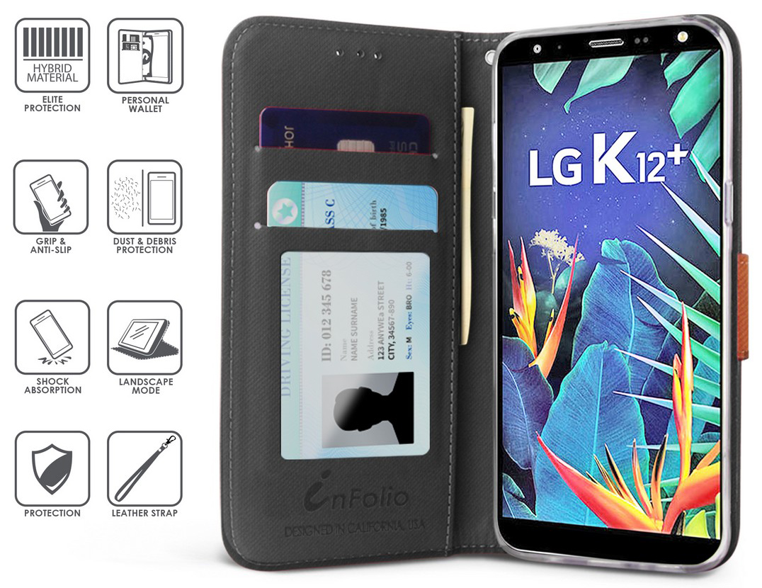thumbnail 6 - Durable Secure Wallet Case Credit Card Slot Cover Strap for LG Harmony 3 LMX420