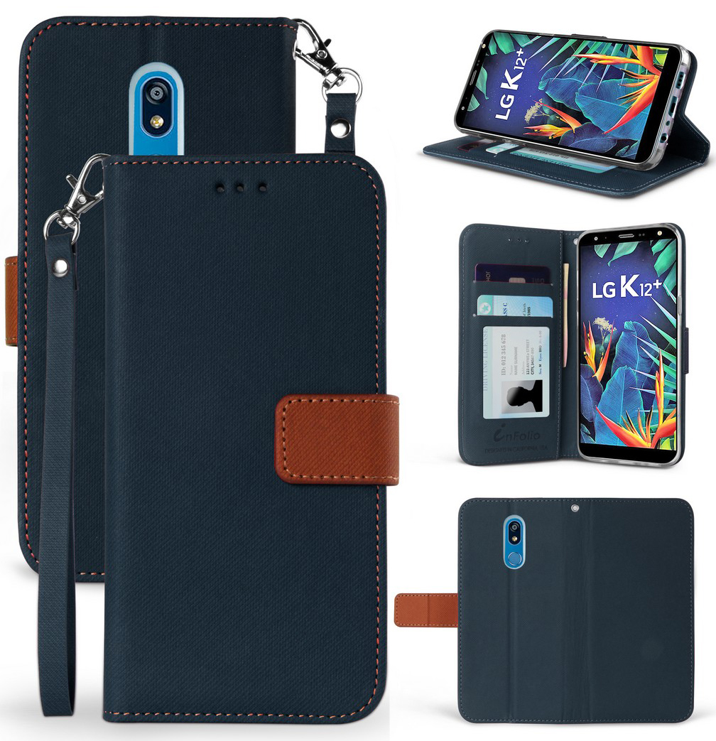 thumbnail 9 - Durable Secure Wallet Case Credit Card Slot Cover Strap for LG Harmony 3 LMX420