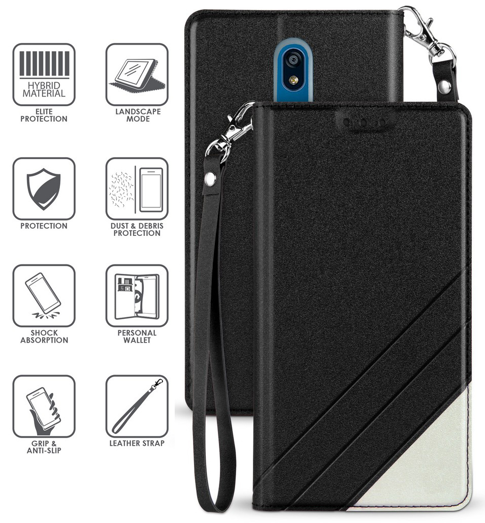 thumbnail 4 - Infolio Wallet Case Stand Card Slot Cover Wrist Strap for LG Xpression Plus 2