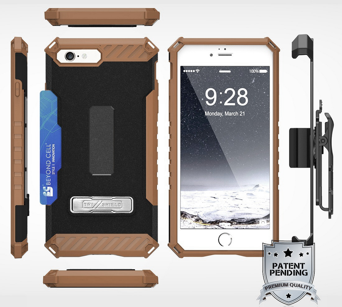 thumbnail 14 - TRI-SHIELD RUGGED CASE STAND CARD SLOT COVER + STRAP + BELT CLIP FOR iPHONE 8/7