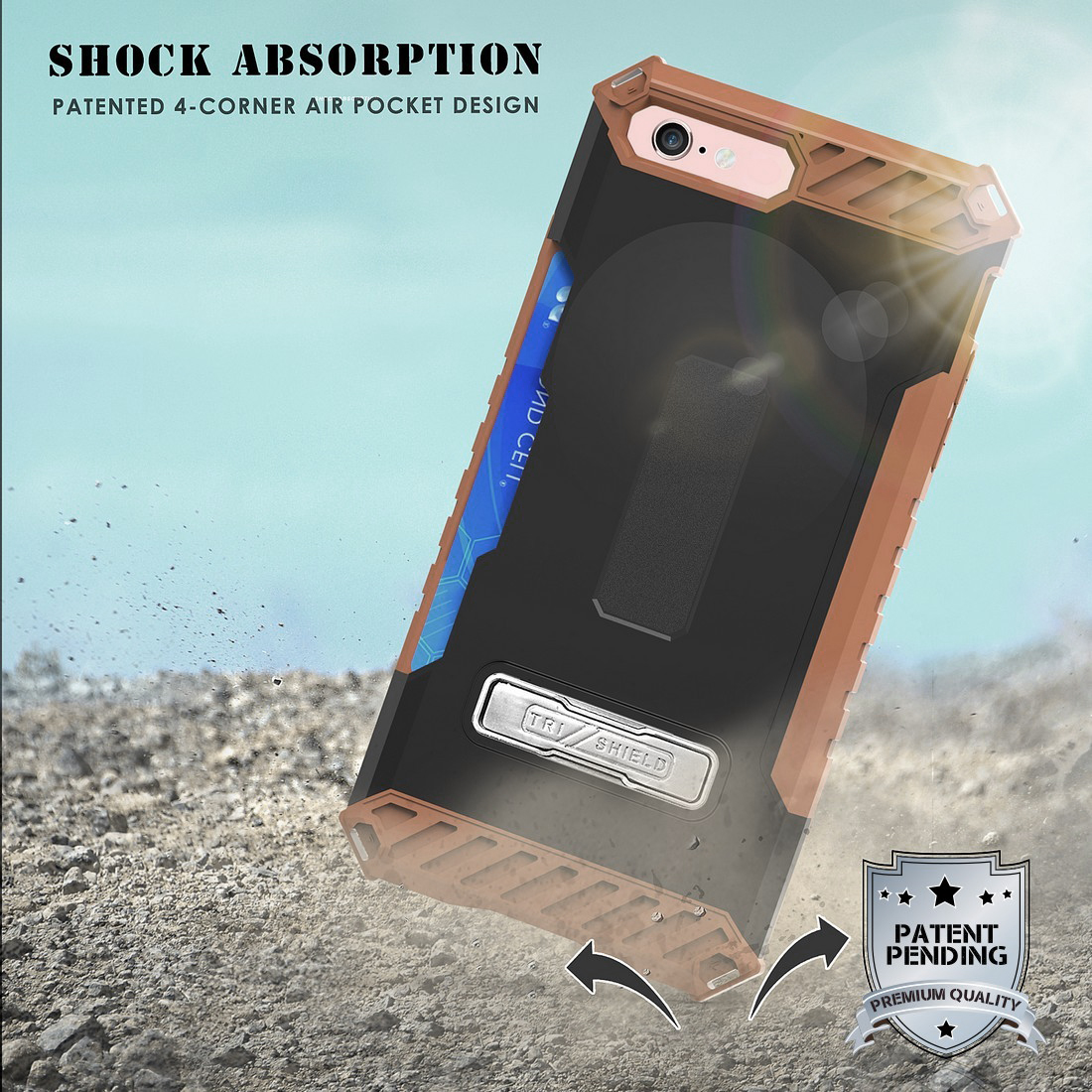 thumbnail 12 - TRI-SHIELD RUGGED CASE STAND CARD SLOT COVER + STRAP + BELT CLIP FOR iPHONE 8/7
