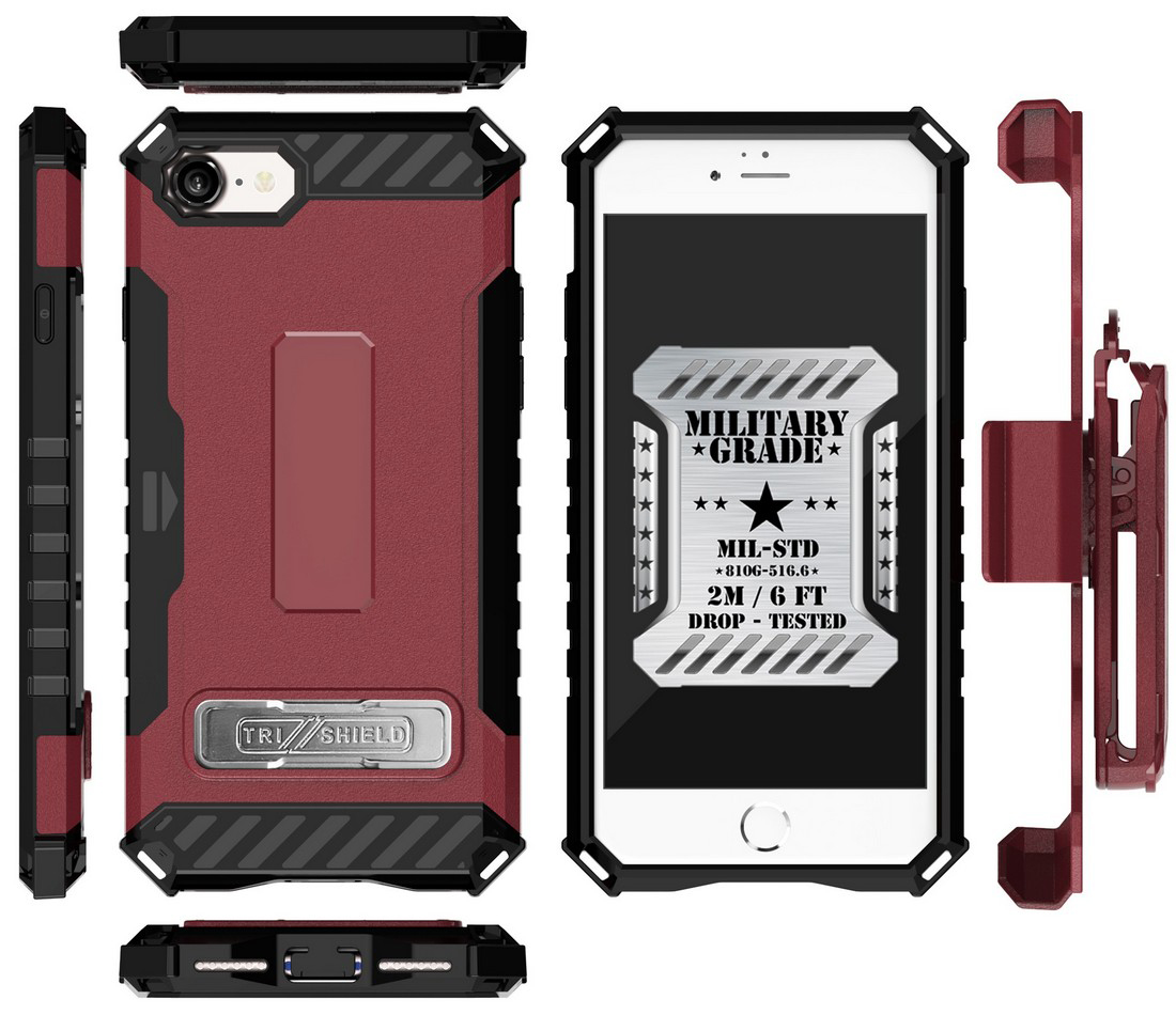thumbnail 26 - TRI-SHIELD RUGGED CASE STAND CARD SLOT COVER + STRAP + BELT CLIP FOR iPHONE 8/7