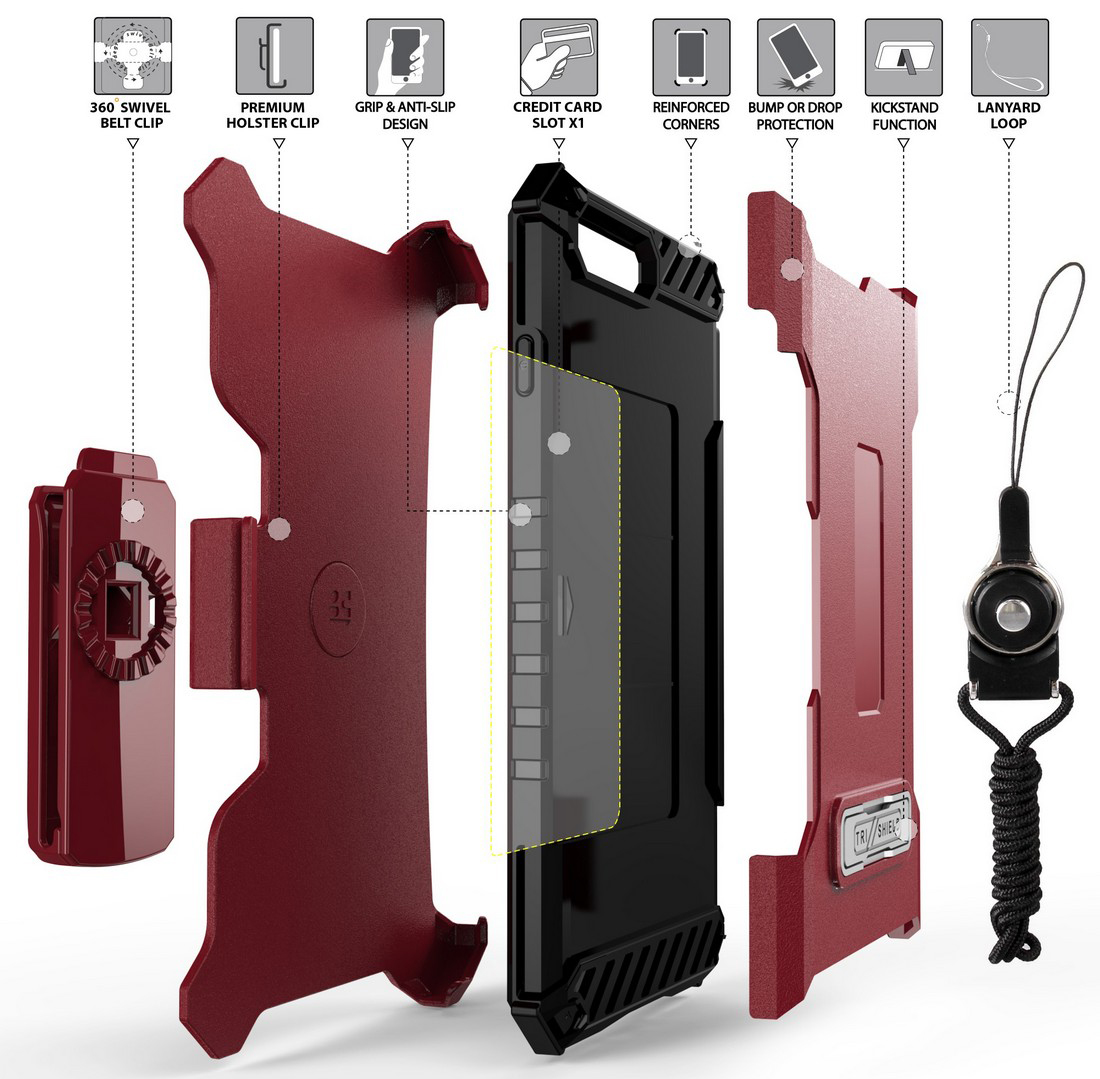 thumbnail 25 - TRI-SHIELD RUGGED CASE STAND CARD SLOT COVER + STRAP + BELT CLIP FOR iPHONE 8/7