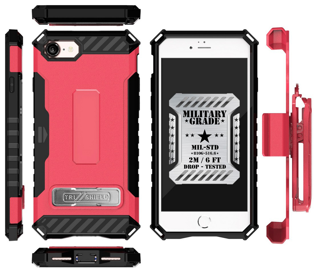 thumbnail 32 - TRI-SHIELD RUGGED CASE STAND CARD SLOT COVER + STRAP + BELT CLIP FOR iPHONE 8/7