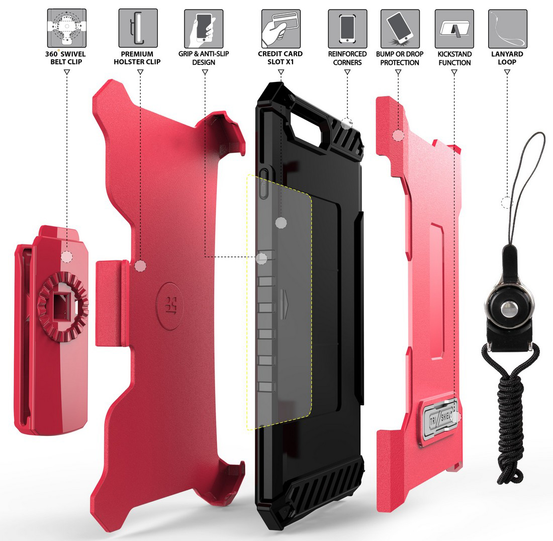 thumbnail 31 - TRI-SHIELD RUGGED CASE STAND CARD SLOT COVER + STRAP + BELT CLIP FOR iPHONE 8/7
