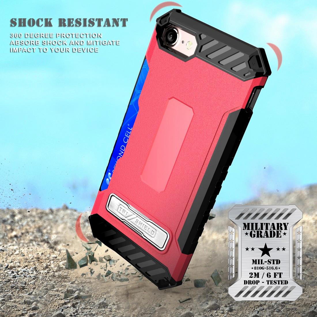 thumbnail 30 - TRI-SHIELD RUGGED CASE STAND CARD SLOT COVER + STRAP + BELT CLIP FOR iPHONE 8/7