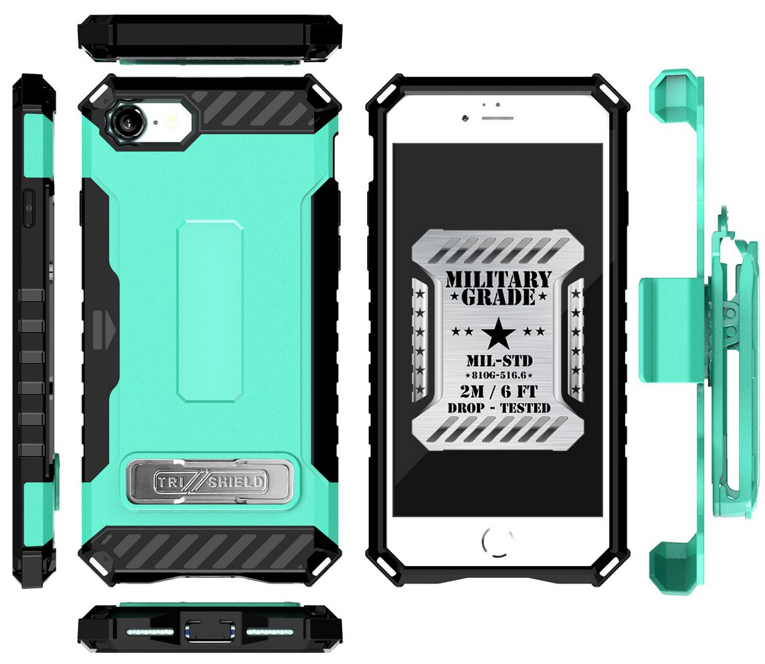 thumbnail 38 - TRI-SHIELD RUGGED CASE STAND CARD SLOT COVER + STRAP + BELT CLIP FOR iPHONE 8/7