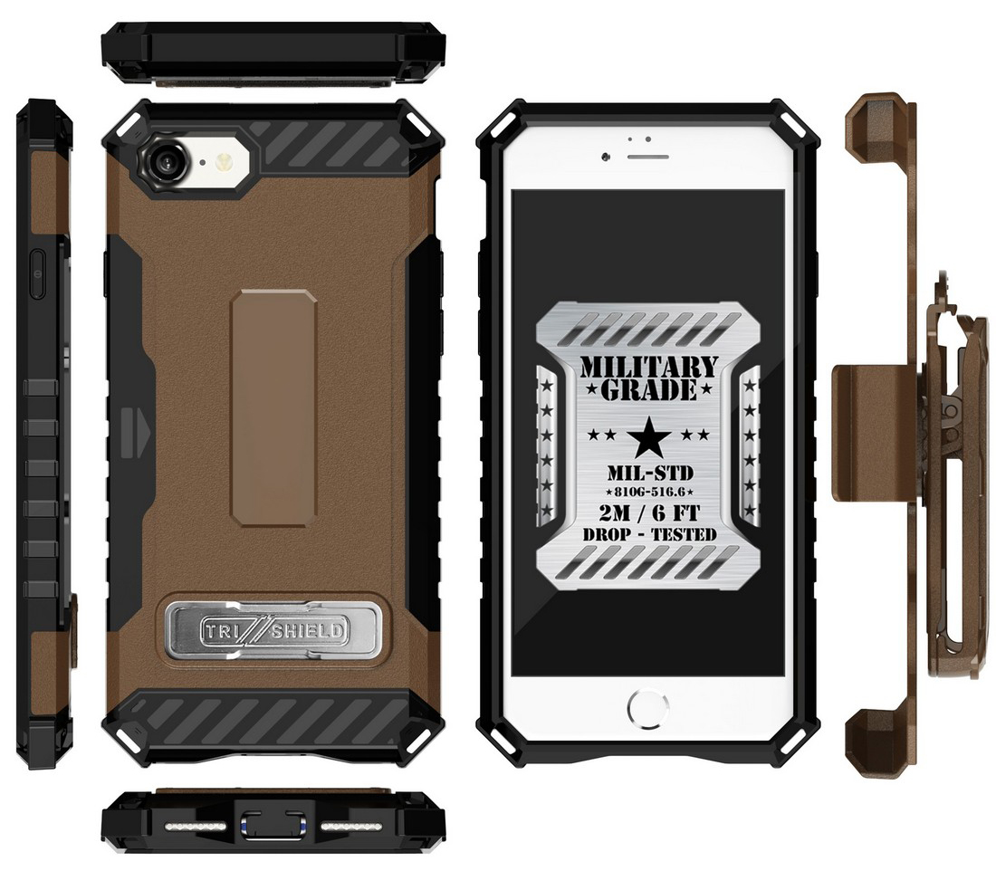 thumbnail 44 - TRI-SHIELD RUGGED CASE STAND CARD SLOT COVER + STRAP + BELT CLIP FOR iPHONE 8/7