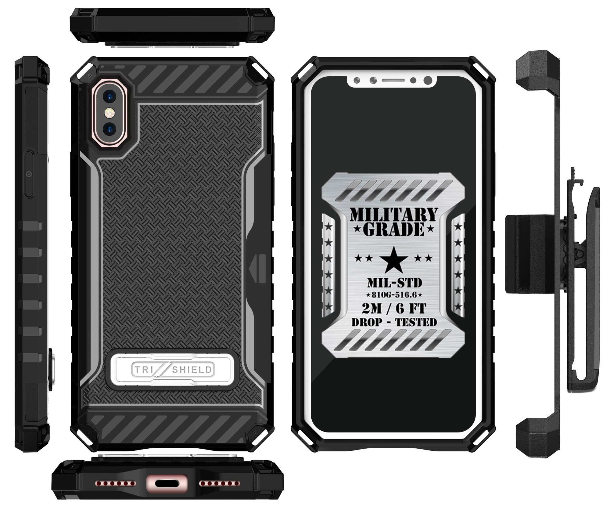 thumbnail 7 - TRI-SHIELD RUGGED CASE STAND CARD SLOT + BELT CLIP HOLSTER FOR APPLE iPHONE X 10