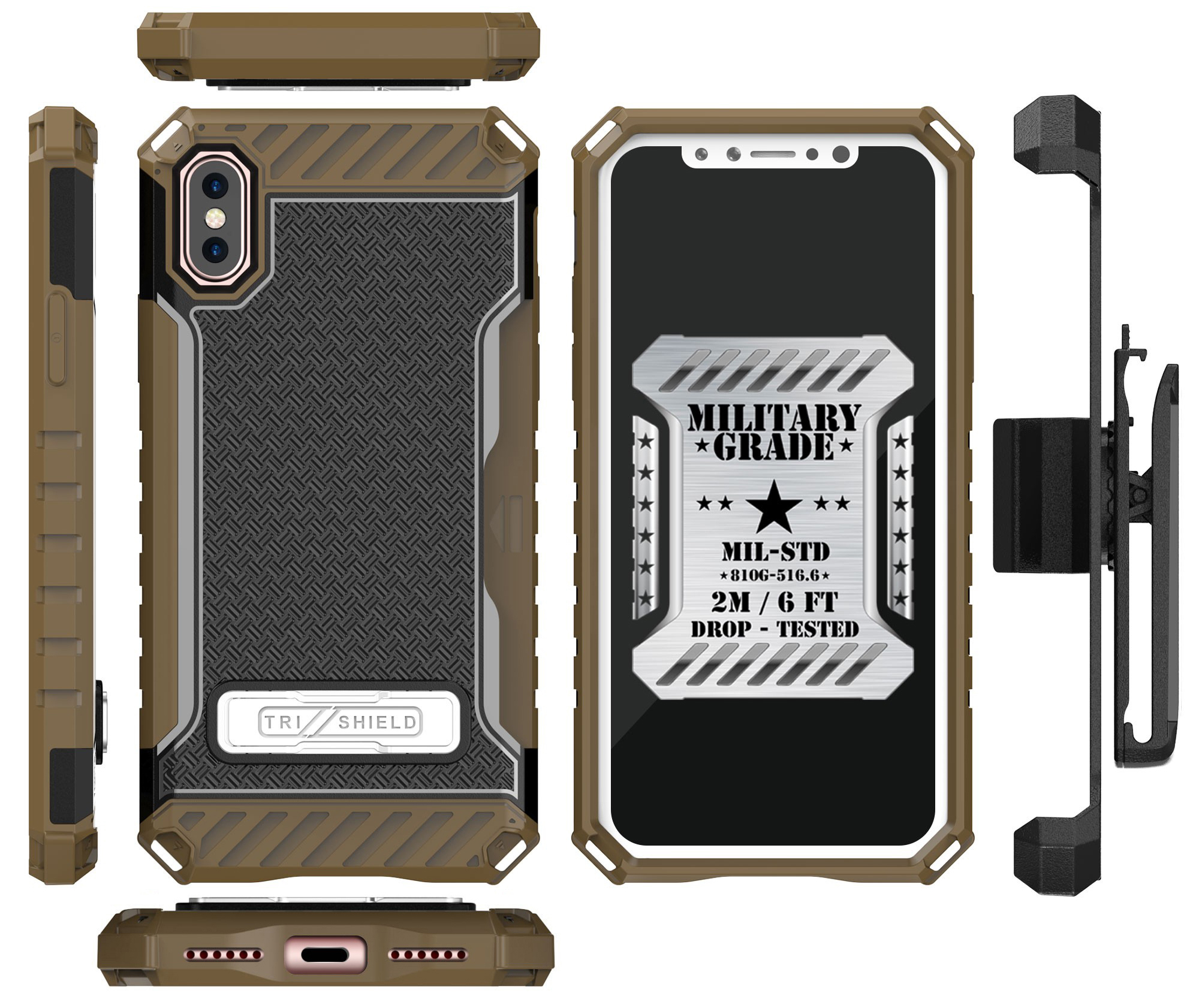 thumbnail 13 - TRI-SHIELD RUGGED CASE STAND CARD SLOT + BELT CLIP HOLSTER FOR APPLE iPHONE X 10